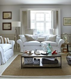 The Whistler four seat sofa in Chalk house textured cotton, £1,445