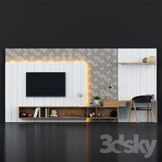 Lcd Wall Design, Lcd Unit Design, Study Table Designs, Living Room Tv Unit Designs, Drawing Room Design, Drawing Room Interior, Bedroom Bed Design, Modern Bedroom, Tv Wall Furniture