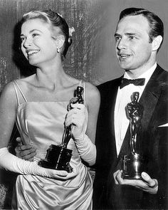 1954 Best Actress Grace Kelly and Best Actor Marlon Brando