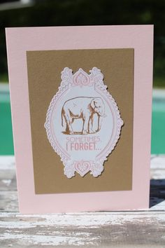 Sometimes I Forget A2 Blank Card by AllOnAHeartstring on Etsy