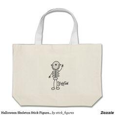 Halloween Skeleton Stick Figure Bag