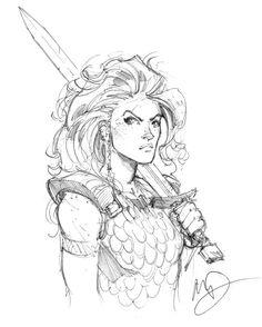 Red sonja sketch keep these pins in 2019 character art, fantasy art, charac Character Concept, Character Art, Concept Art, Character Design, Red Sonja, Fantasy Warrior, Fantasy Art, Woman Warrior, Warrior Drawing