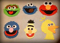 Set 6 Sesame Street Characters Cake Topper by SweetcreationsbyGigi, $34.95