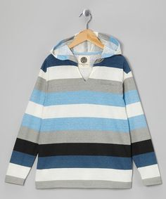 Take a look at this Navy Stripe Hoodie - Boys by Maui and Sons on #zulily today!