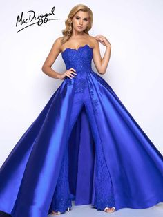 Check out the deal on Mac Duggal Prom 48442M Jumpsuit with Overskirt at French Novelty