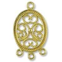 CN472 - Brass Chandelier Part 25x15mm (1-Pc) - Only at... JewelrySupply.com