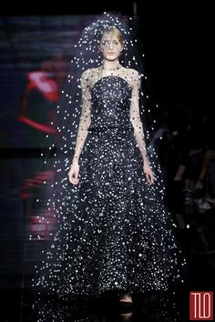 It's like you're surrounded by a cloud of fireflies. Delightful. Armani Prive Fall 2014 Couture Collection, Paris