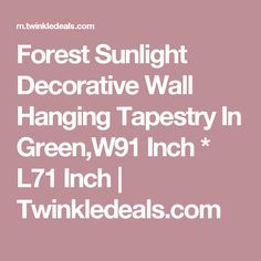 Forest Sunlight Decorative Wall Hanging Tapestry In Green,W91 Inch * L71 Inch | Twinkledeals.com