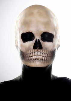Skull make-up by Andreas Müller, the chief make-up artist of the German Theatre in Berlin #Halloween