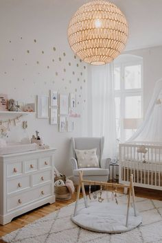 Cocos Babyzimmer Wickelkommode: Kidsmill Babybett: Oeuf Lampe: Westwing Kleiderstange: Nunido Betthimmel: Babyroom, Babygirl, cot, interior kids Best Picture For Baby Room ocean For Your Tast Baby Room Design, Nursery Design, Baby Room Decor, Nursery Room, Girl Nursery, Girl Room, Kids Bedroom, Nursery Decor, Child Room
