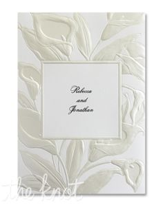 Your favorite flower on the invitations??  I like this.