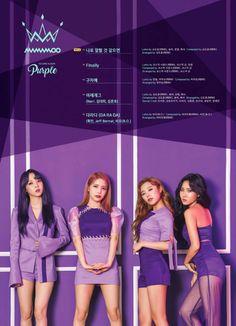 MAMAMOO drop the track list of their 5th mini album 'Purple' | allkpop.com