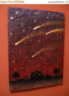 canvas painting textured art wall sculpture kids by wrightsonarts