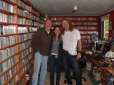 Bob, Nicola Powell and Robert Plant