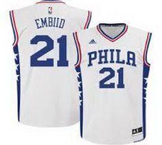 d16714ba58c NBA Philadelphia 76ers  21 Joel Embiid Basketball Jersey White Heat Jerseys