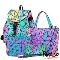 Buy Fashion Luminous Holographic Backpack Reflective Rainbow Bag Crossbody Bag Handbag Wallet For Women at Wish - Shopping Made Fun Holographic Adidas, Rainbow Bag, Make Color, Artificial Leather, Stiletto Pumps, Wish Shopping, Womens High Heels, Wallets For Women, Fashion Accessories