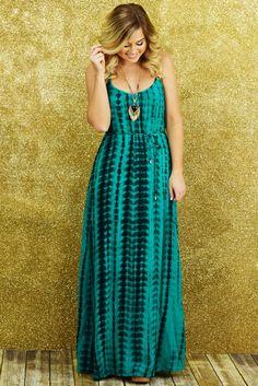 Oh My Heavens Maxi Dress: Teal/Multi