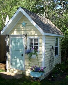 Shed DIY - Inspiring 25 Excellent DIY Backyard Decoration With Painted Shed Ideas decoredo.com/... Now You Can Build ANY Shed In A Weekend Even If You've Zero Woodworking Experience!