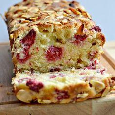 Raspberry White Chocolate Almond Cake