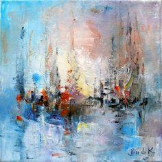 Konrad Biro Lyrical abstract impressionism oil canvas