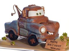 Tow Mater Cake by studiocake, via Flickr - Reid's bday