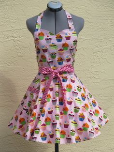 Sweetheart Hostess Cupcakes on Pink Apron  With by AquamarCouture
