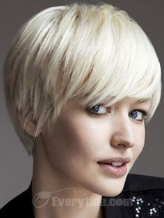 Wholesale Capless Short Straight Light Ash Blonde Synthetic Hair Wig 2012 New