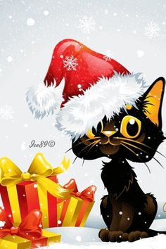 Image result for happy birthday xmas kitty gifs