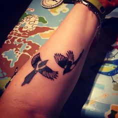 Two for joy #magpie #tattoo More