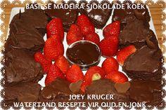 SJOKOLADE KOEKE Flan Cake, Coffee Cake, Chocolate Fondue, Kos, Delicious Desserts, Cake Recipes, Sweet Treats, Recipies, African