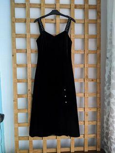 Vintage Velvet, Pencil Dress, Dresses For Sale, Size 12, Pearls, Collection, Black, Fashion, Moda