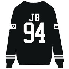 Kpop GOT7 Sweatshirt JB JR YOUNGJAE MARK Sweater Jacket Pullover ($17) ❤ liked on Polyvore featuring tops, pullover tops and sweater pullover