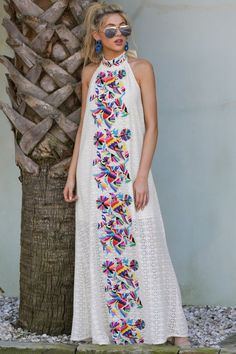 Flock To It Cream Embroidered Maxi Dress Judith March White Embroidered Dress – Halter Maxi […] The post Flock To It Cream Embroidered Maxi Dress appeared first on How To Be Trendy. Halter Maxi Dresses, Sexy Dresses, Casual Dresses, Floral Dresses, Short Beach Dresses, Long Dresses, Summer Dresses, White Embroidered Dress, Mode Chic
