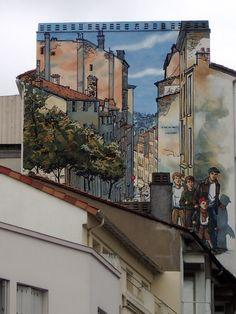 "Mur Peint ""Sales Mioches"" (Berlion et Corbeyran) -  Angoulême 2003"