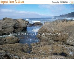 15% OFF SALE Beach Photography No. 4 Trail Washington State Digital Image Pacific Ocean