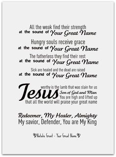 Your Great Name - Natalie Grant!!!! More at http://www.facebook.com/IHeartWorship
