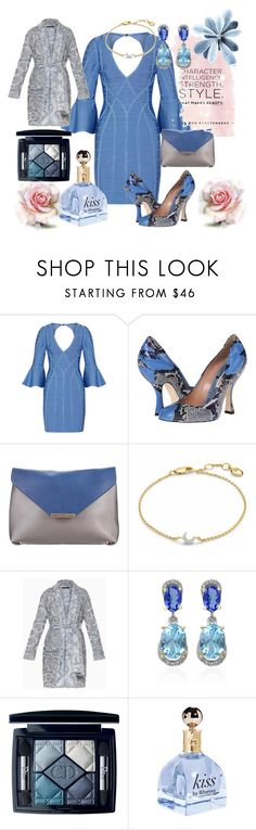 """""""Untitled #89"""" by mschaub325 ❤ liked on Polyvore featuring Hervé Léger, Vivienne Westwood, Emilio Pucci, Missoma, BCBGMAXAZRIA, Effy Jewelry and Christian Dior"""