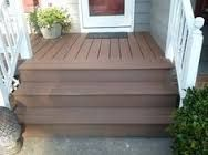 wood over concrete porch - wood over concrete porch ` wood over concrete porch front steps ` wood over concrete porch curb appeal Front Porch Stairs, Front Stoop, Front Porch Design, Porch Steps, Front Deck, Porch Designs, Front Entry, Deck Over Concrete, Concrete Front Porch