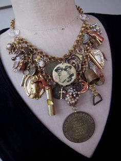RESERVED FOR LAUREN Vintage Necklace,  Charm Necklace, Steampunk Necklace  - Wild West. $225.00, via Etsy.