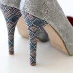 TUTORIALS - covering cheap/old heels with fabric of your choice!