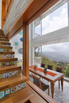 Panchgani Villa | HS Desiigns - The Architects Diary Interior Walls, Home Interior Design, Interior Architecture, Interior Designing, Stairways, Furniture Design, Villa, House Design, Modern
