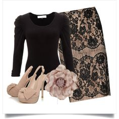 """""""lace skirt"""" by eanneanderson on Polyvore"""