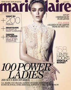 Sophie Vlaming on Marie Claire Netherlands March 2012
