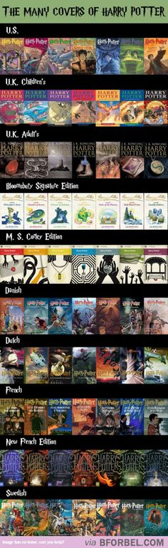 10 Versions Of Harry Potter Covers… I want the Bloomsberry Signature Edition or whatever THEY ARE FRICKIN GORGEOUS