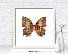 Brown BUTTERFLY Painting, Butterfly Art, Butterfly Print, Original Butterfly Watercolor, Butterfly Greeting Cards, 62 Galaxia Butterfly