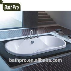 Acrylic material under ground oval shape bathtub for luxury bathroom