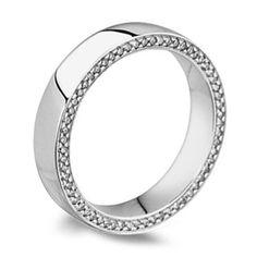 Men S Cushion Set Side Diamond Wedding Ring