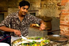 Look at how his smolder steamed and grilled that fish to perfection.   Manish Dayal Is The Summer Crush You Never Knew You Wanted
