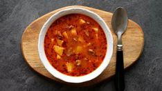 Goulash, Polenta, Soups And Stews, Soup Recipes, Treats, Cooking, Health, Ethnic Recipes, Kitchen