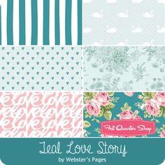 Teal Love Story One Yard Pack<br/>Webster's Pages for Riley Blake Designs